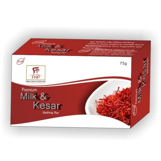 FHP MILK KESAR BATHING BAR